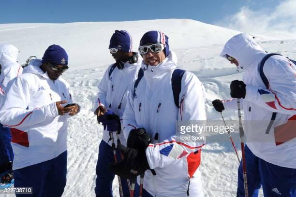 Equipe de France sur le Glacier Franck RIBERY Stage de l'Equipe de France avant la Coupe du Monde 2010 Tignes France