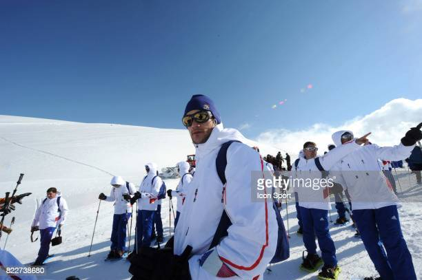 Equipe de France sur le Glacier HUGO LLORIS Stage de l'Equipe de France avant la Coupe du Monde 2010 Tignes France