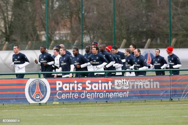 Equipe du PSG Entrainement du PSG Camp des Loges Saint Germain en Laye