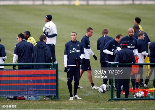 Equipe du PSG / Guillaume HOARAU Entrainement du PSG Camp des Loges Saint Germain en Laye