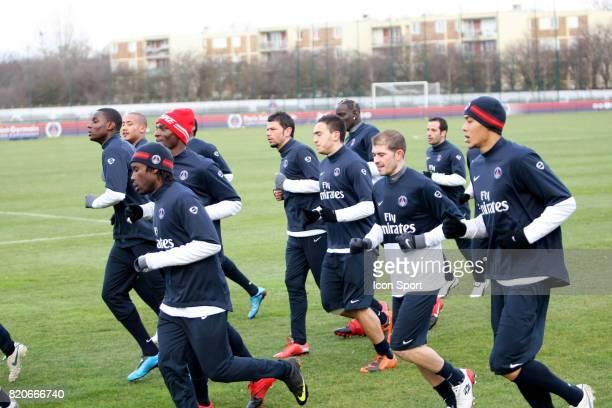 Equipe du PSG / Mateja KEZMAN / Guillaume HOARAU Entrainement du PSG Camp des Loges Saint Germain en Laye