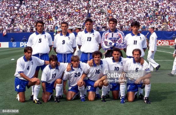 Equipe Italie Italie / Irlande Coupe du Monde 1994 Photo Alain Gadoffre / Icon Sport Gianluca Pagliuca / Alessandro Costacurta / Paolo Maldini /...