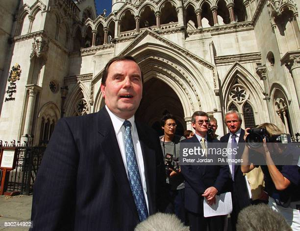 Equitable Life's managing director Alan Nash speaking to reporters outside the Court of Appeal in London after the mutual life assurer Equitable Life...