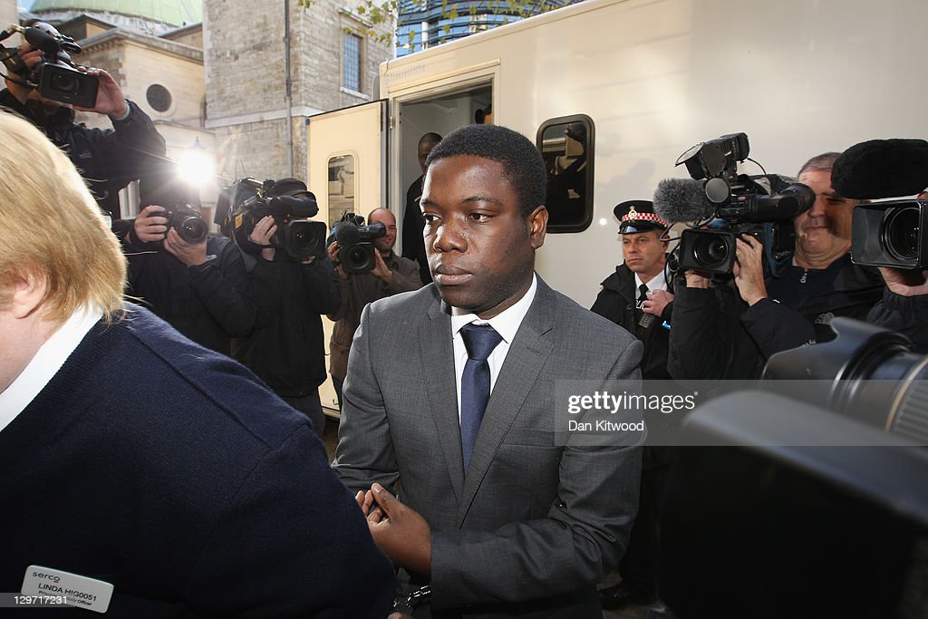 UBS equities trader <a gi-track='captionPersonalityLinkClicked' href=/galleries/search?phrase=Kweku+Adoboli&family=editorial&specificpeople=8256036 ng-click='$event.stopPropagation()'>Kweku Adoboli</a> arrives at City of London Magistrates court on October 20, 2011 in central London, England. Mr Adoboli is alleged to have made unauthorised trades that resulted in losses to Swiss bank UBS of 1.5 billion GBP.