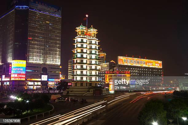 Er Qi Square District in Zhengzhou,Henan