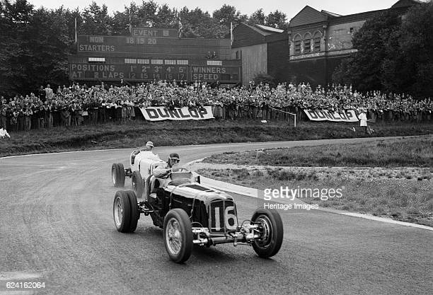 ERAs of Raymond Mays and Arthur Dobson racing at Crystal Palace London 1939 Artist Bill BrunellERA 1980S cc Event Entry No 16 Driver Mays R Twin rear...