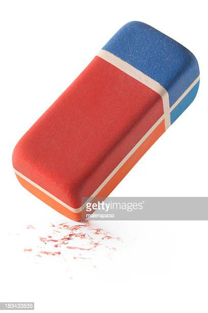 Eraser with residue