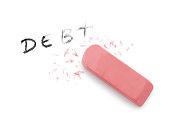 Erasing debt concept