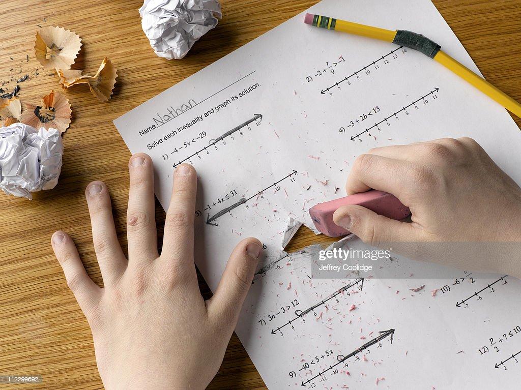 Erasing Math Problems