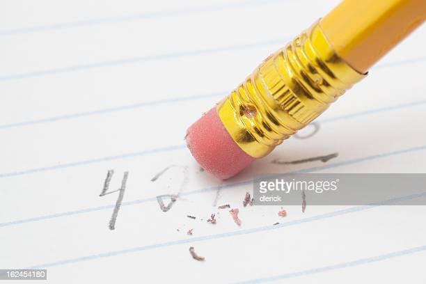 シートから削除番号紙に鉛筆の裏張り