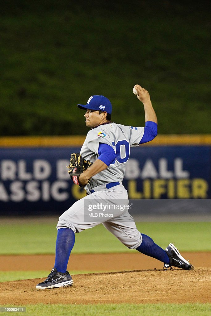Erasmo Ramirez #50 of Team Nicaragua pitches during Game 2 of the Qualifying Round of the World Baseball Classic against Team Colombia at Rod Carew National Stadium on November 16, 2012 in Panama City, Panama.