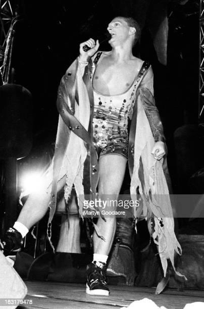 Erasure perform on stage at Milton Keynes Bowl United Kingdom 1990