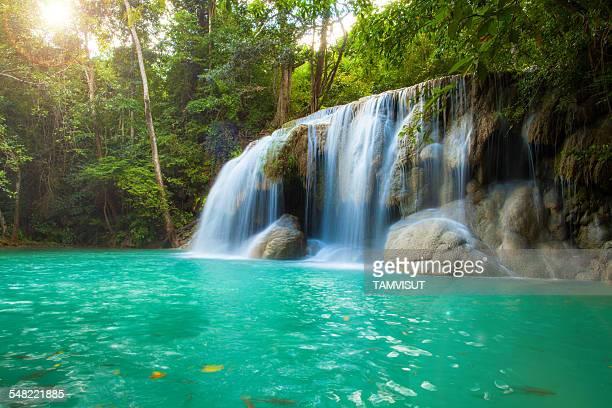 Erawan waterfall national park,Thailand