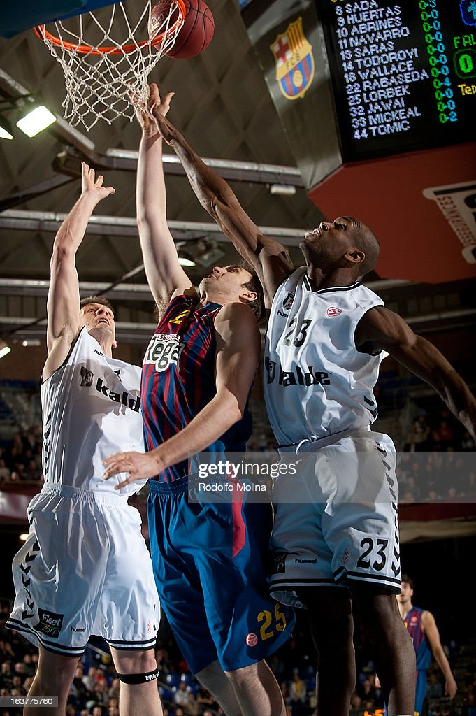 Erazem Lorbek, #25 of FC Barcelona Regal in action during the 2012-2013 Turkish Airlines Euroleague Top 16 Date 11 between FC Barcelona Regal v Besiktas JK Istanbul at Palau Blaugrana on March 15, 2013 in Barcelona, Spain.