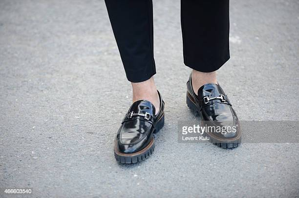 Erberk Kahraman shoes by Elle during Mercedes Benz Fashion Week Istanbul FW15 on March 17 2015 in Istanbul Turkey