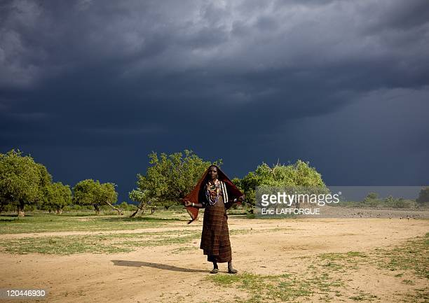 Erbore tribe in Ethiopia on October 26 2008 This tribe is not far from Kenya border The women are beautiful they all wear black veils like Muslim but...