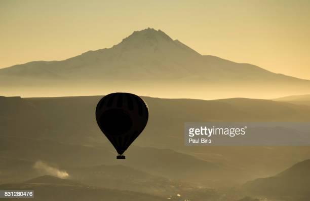Erciyes Dagi Volcano and Cappadocian Landscape, Turkey