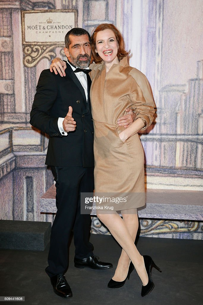 Erdal Yildiz and Inga Busch attend the Moet & Chandon Grand Scores 2016 at Hotel De Rome on February 6, 2016 in Berlin, Germany.