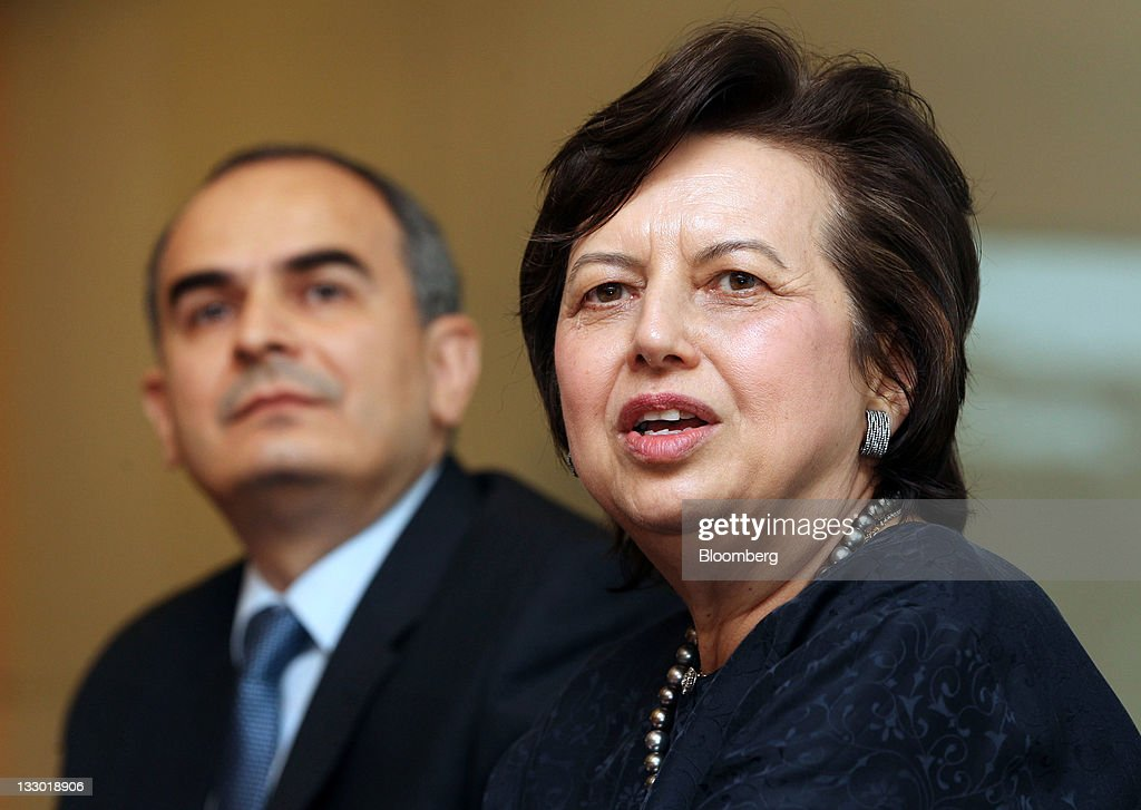 Erdem Basci, governor of Turkey's central bank, left, and Zeti Akhtar Aziz, governor of Bank Negara Malaysia, attend a news conference after the Islamic Financial Intelligence Summit in Kuala Lumpur, Malaysia, on Wednesday, Nov. 16, 2011. Malaysia's inflation has peaked and stabilized, Zeti told reporters in Kuala Lumpur yesterday. Photographer: Goh Seng Chong/Bloomberg via Getty Images Zeti Akhtar Aziz; Erdem Basci