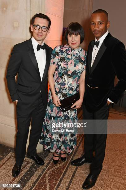 Erdem Moralioglu Alice Rawsthorn and Eric Underwood attend the Portrait Gala 2017 sponsored by William Son at the National Portrait Gallery on March...