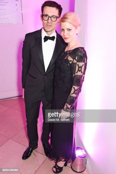 Erdem Moralioglu and Jaime Perlman attend the Portrait Gala 2017 sponsored by William Son at the National Portrait Gallery on March 28 2017 in London...