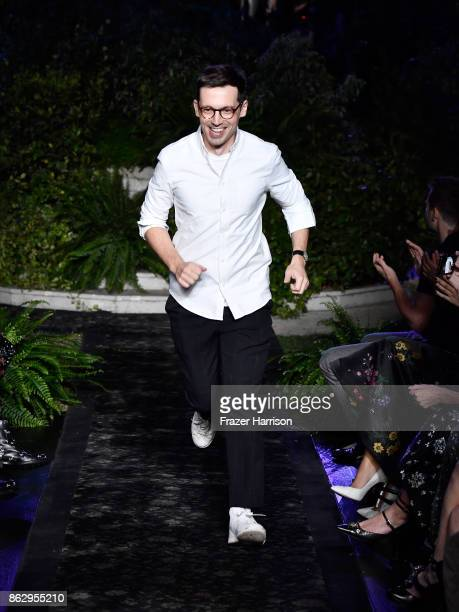 Erdem Moralioglu at HM x ERDEM Runway Show Party at The Ebell Club of Los Angeles on October 18 2017 in Los Angeles California