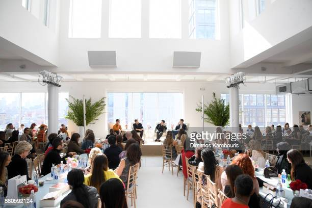 Erdem Moralioglu Simon Porte Jacquemus Joseph Altuzarra and Mark Holgate speak onstage during Vogue's Forces of Fashion Conference at Milk Studios on...