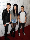 Erdis Tafilica Acacia Brinley and Connor Montgomery attend DigiFest LA The Largest YouTube Music Festival at Hollywood Palladium on December 14 2013...