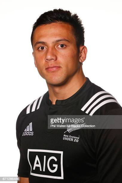 Ereatara Enari poses during the New Zealand U20 Headshots Session at Novotel Auckland Airport on April 22 2017 in Auckland New Zealand