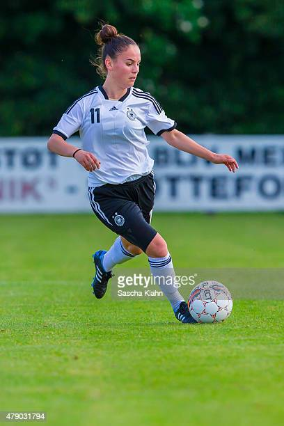Ereleta Memeti of Germany during the Girl's Nordic Cup between U16 Germany and U16 Norway at Norre Aaby Stadium on June 29 2015 in Norre Aaby Denmark