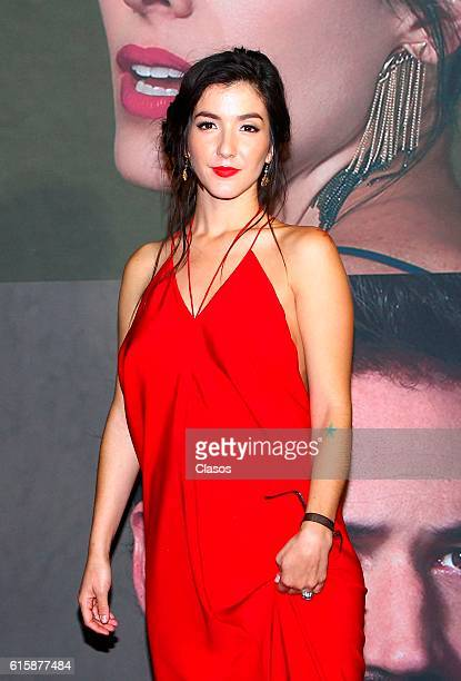 Erendira Ibarra attends La Vida Inmoral De La Pareja Ideal premiere and red carpet at Teatro Metropolitano on October 19 2016 in Mexico City Mexico
