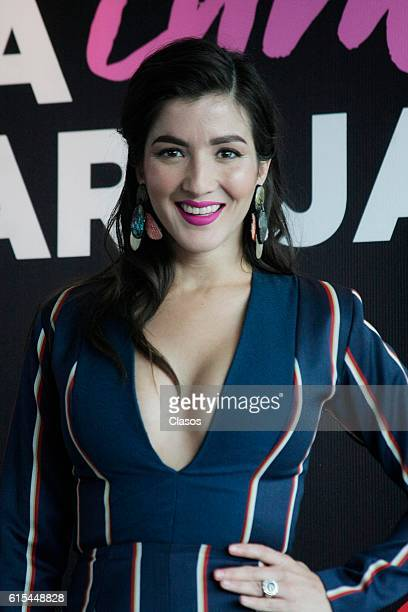 Erendira Ibarra poses during the presentation of the movie 'La Vida Inmoral de la Pareja Ideal' on October 17 Mexico City Mexico