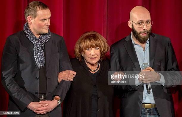 Eröffnung des 36 Max Ophüls Festivals vli Devid Striesow Hannelore Hoger und Jakob Lass