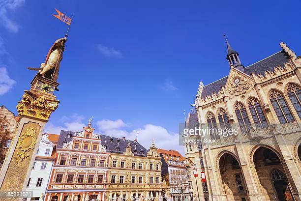 Erfurt Fischmarkt (Fischmarkt) und der City hall (Rathaus