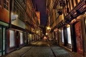Erfurt the Krämerbrücke by night