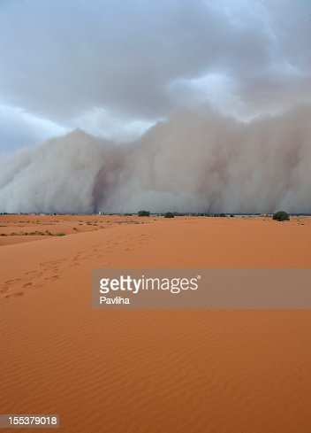 Erg Chebbi Desert Duststorm Morocco