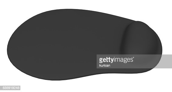 Ergonomic mouse pad isolated on a white background : Stock Photo