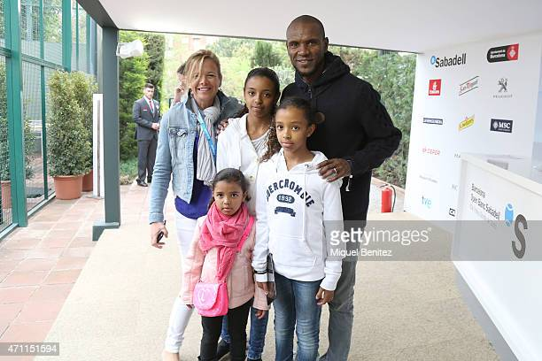Eric Abidal attends Barcelona Open Banc Sabadell at the Real Club de Tenis Barcelona on April 25 2015 in Barcelona Spain