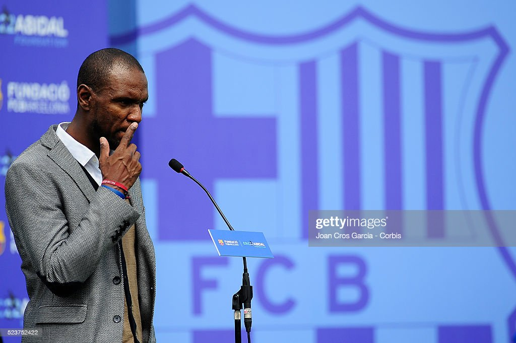 <a gi-track='captionPersonalityLinkClicked' href=/galleries/search?phrase=Eric+Abidal&family=editorial&specificpeople=469702 ng-click='$event.stopPropagation()'>Eric Abidal</a>, speaks during the <a gi-track='captionPersonalityLinkClicked' href=/galleries/search?phrase=Eric+Abidal&family=editorial&specificpeople=469702 ng-click='$event.stopPropagation()'>Eric Abidal</a> and F.C.Barcelona foundation launch on April 22, 2016 in Barcelona, Spain.