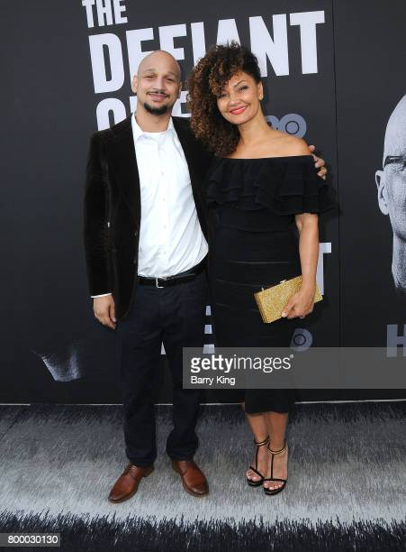 Eric AlexanderHughes and wife attend the Premiere of HBO's 'The Defiant Ones' at Paramount Theatre on June 22 2017 in Hollywood California
