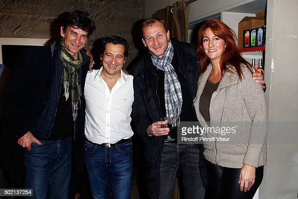 Eric Altmayer Laurent Gerra Nicolas Altmayer and his wife attend the Laurent Gerra One Man Show at L'Olympia on December 19 2015 in Paris France