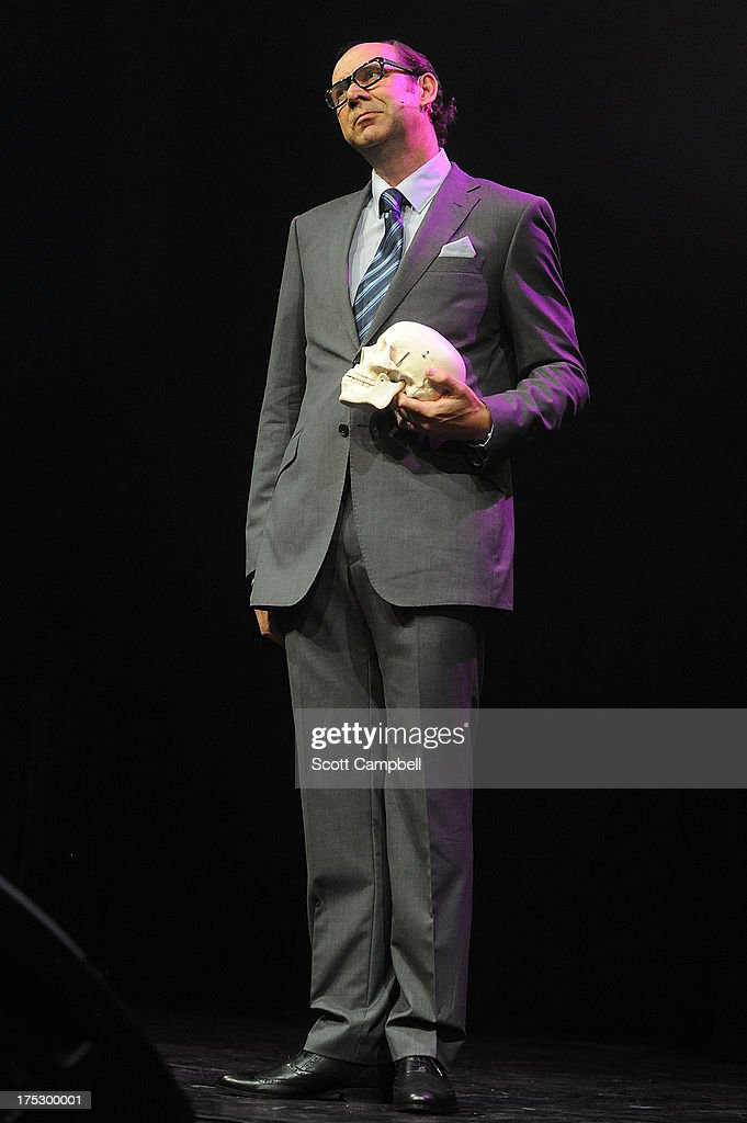 Eric and Little Ern perform during the Gilded Balloon press launch at The Edinburgh Festival Fringe on August 1, 2013 in Edinburgh, Scotland.