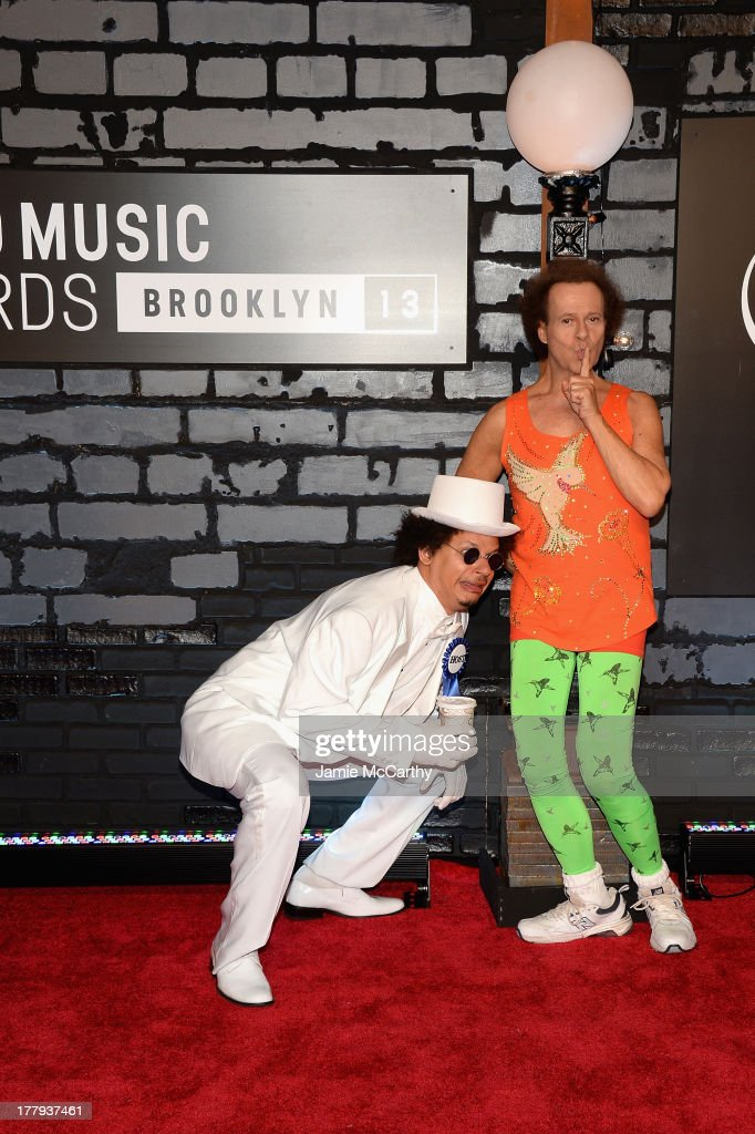 Eric André and Richard Simmons attend the 2013 MTV Video Music Awards at the Barclays Center on August 25, 2013 in the Brooklyn borough of New York City.