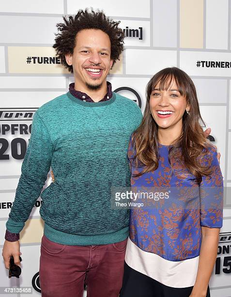 Eric Andre and Rashida Jones attend the Turner Upfront 2015 at Madison Square Garden on May 13 2015 in New York City 25201_002_TW_0419JPG