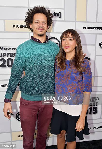 Eric Andre and Rashida Jones attend the Turner Upfront 2015 at Madison Square Garden on May 13 2015 in New York City 25201_002_TW_0416JPG