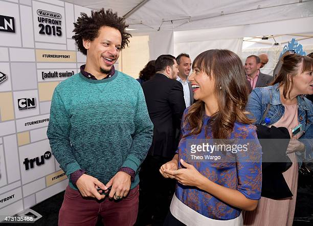 Eric Andre and Rashida Jones attend the Turner Upfront 2015 at Madison Square Garden on May 13 2015 in New York City 25201_002_TW_0412JPG