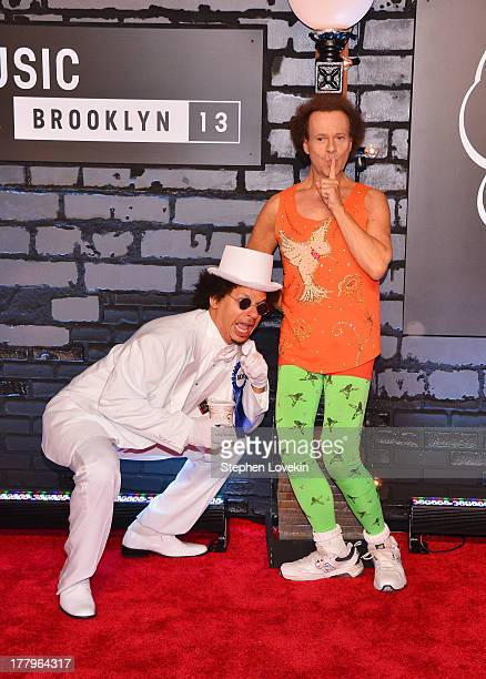 Eric Andre and Richard Simmons attend the 2013 MTV Video Music Awards at the Barclays Center on August 25 2013 in the Brooklyn borough of New York...