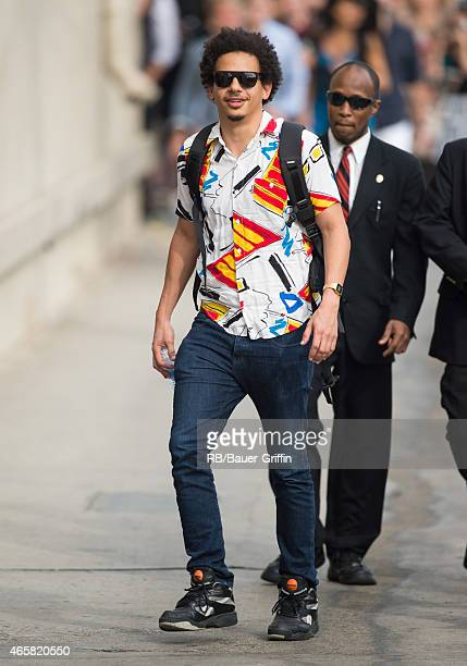 Eric Andre is seen at 'Jimmy Kimmel Live' on March 10 2015 in Los Angeles California