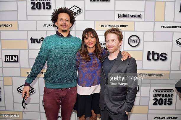 Eric Andre Rashida Jones and Seth Green attend the Turner Upfront 2015 at Madison Square Garden on May 13 2015 in New York City 25201_002_TW_0426JPG