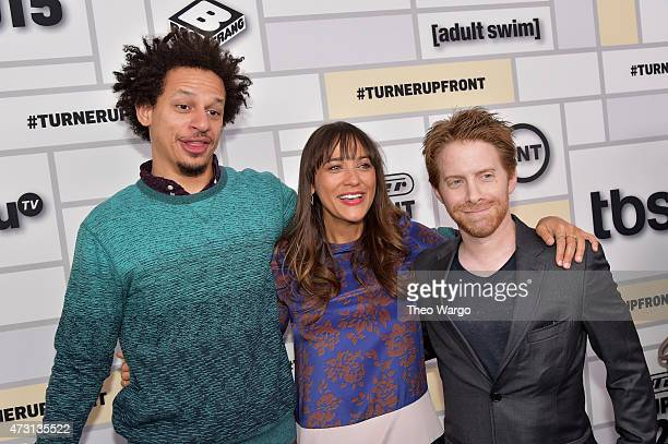 Eric Andre Rashida Jones and Seth Green attend the Turner Upfront 2015 at Madison Square Garden on May 13 2015 in New York City 25201_002_TW_0431JPG